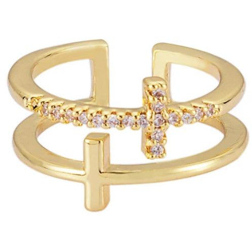 Lauren Dainty Cross Ring