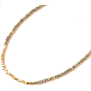 Lauren Multi Beaded Crystal Choker Necklace-Fig Tree Jewelry & Accessories