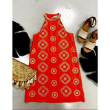 Alicia THML Embroidered Halter Dress ftm1187