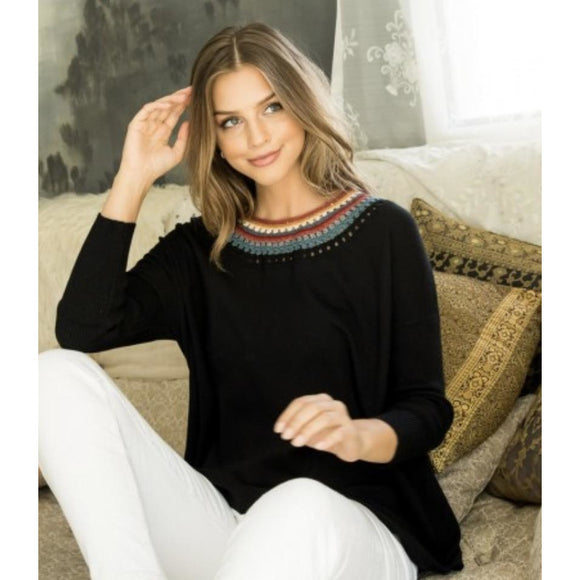 Kinsley Black THML Knit Sweater