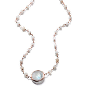 Mikaela Moonstone Choker Necklace