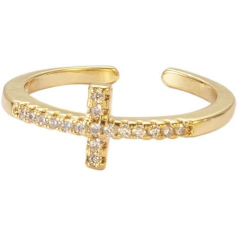 Lauren Dainty Pave Cross Ring