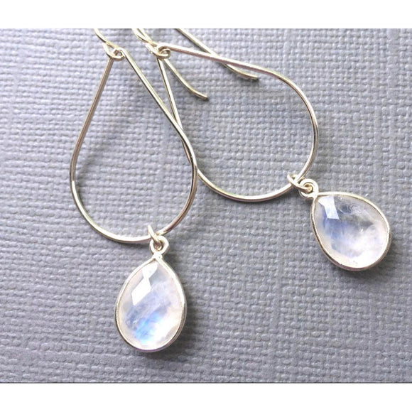 Bailey Moonstone Oval Earrings