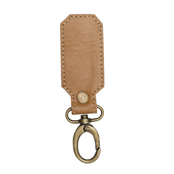 Anissa Brown Leather Key Fob
