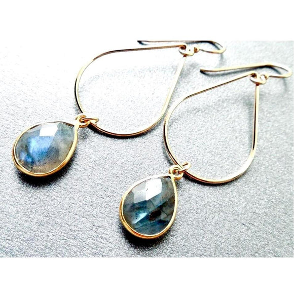 Bailey Labradorite Oval Earrings