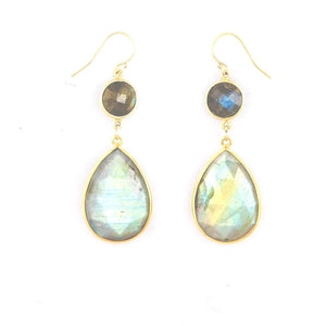 Claire Double Labradorite Dangle Earrings