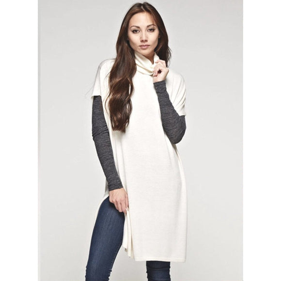 Alina Cream Tunic Lovestitch Sweater