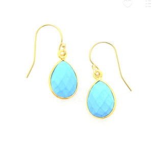 Claire Small Turquoise Dangle Earrings