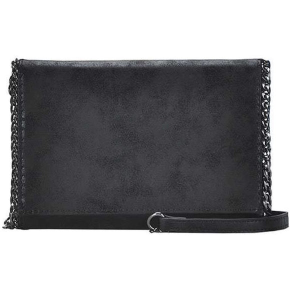 Luna Black Metallic Crossbody Handbag