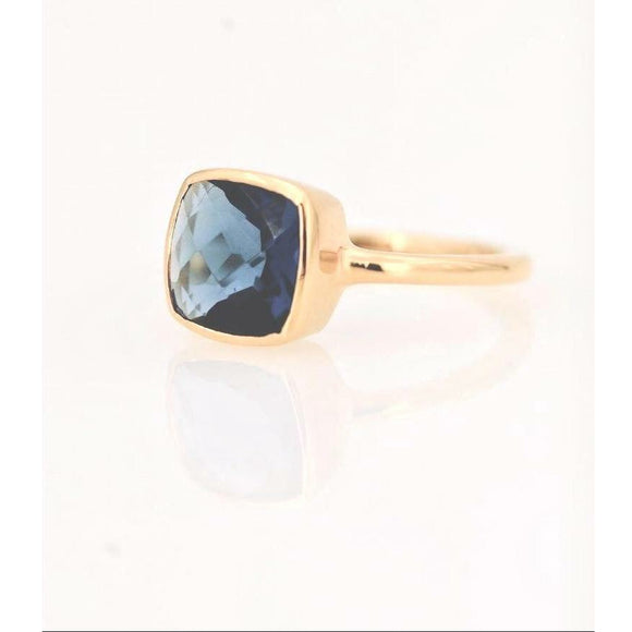 Claire Dark Blue Topaz Ring