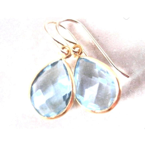 Andi Blue Topaz Drop Earrings