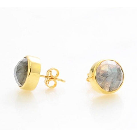 Isabella Labradorite Round Earrings Earrings