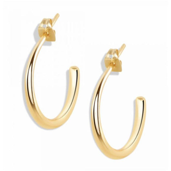 Cora Minimalist Gold Hoop Earrings