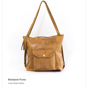 Brennan Brown Leather Backpack Shoulder Handbag
