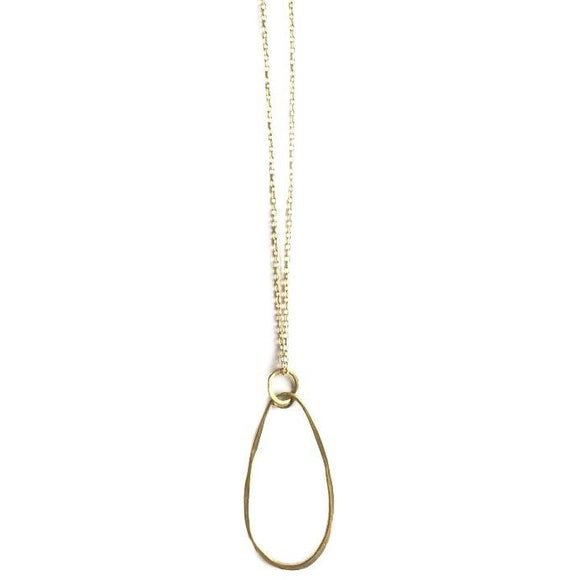 Bella Hammered Oval Chain Necklace