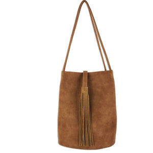 Cora Vegan Leather Tassel Tote Handbag Street Level