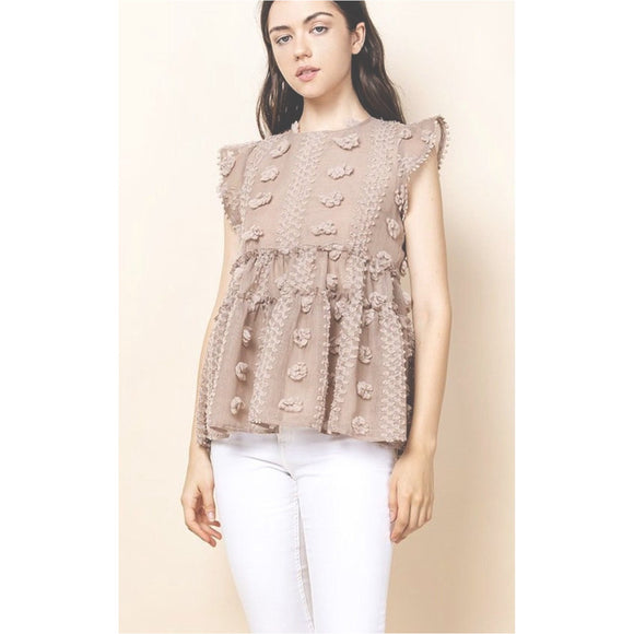 Bella THML Cotton Candy Beige Top