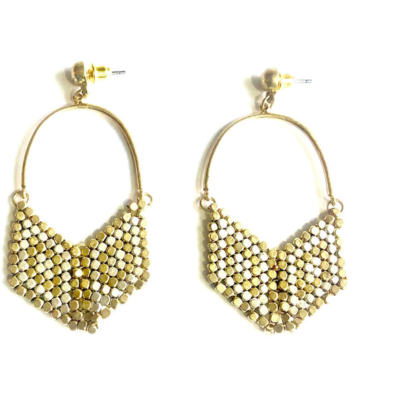 Kate Gold Silver Multi Beaded Earrings