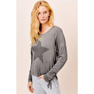 Lexi Beach Grey Vintage Wash Hoodie Lovestitch Top-Fig Tree Jewelry & Accessories