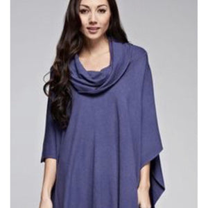 Emeila Blue Fringe Poncho Lovestitch