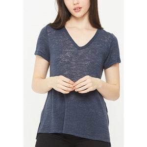 Melrose Uniform Blue V Neck T-Shirt by Comune C19X101-Fig Tree Jewelry & Accessories