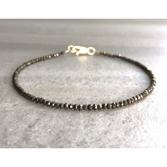 Addie Pyrite Beaded Bracelet