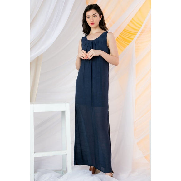 Blair Long THML Navy Dress JH834