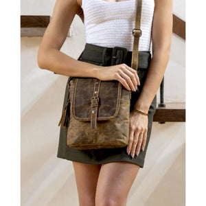 Molly Worn Leather Covetable Backpack Tote