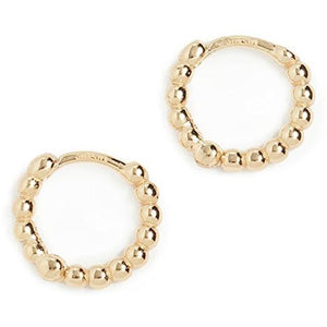 Adorn Gold Textured Huggie Hoop Earrings