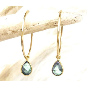 Amie Labradorite Hoop Earrings