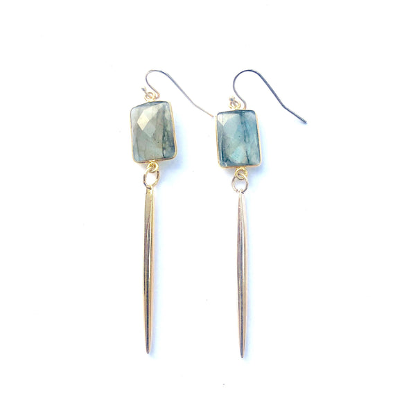Bali Labradorite Contemporary Earrings