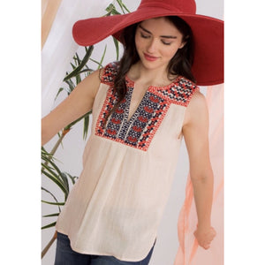 Harper Embroidered THML Top ths0064-nt