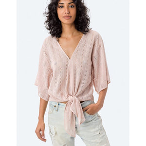 Amber Beach Blush Eyelet Lovestitch Top