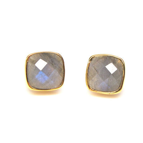 Isabella Labradorite Stud Earrings