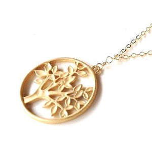 Tree of Life Bohemian Pendant in Gold