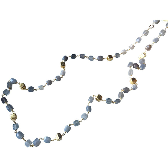 Nina Long Labradorite Square Necklace-Fig Tree Jewelry & Accessories