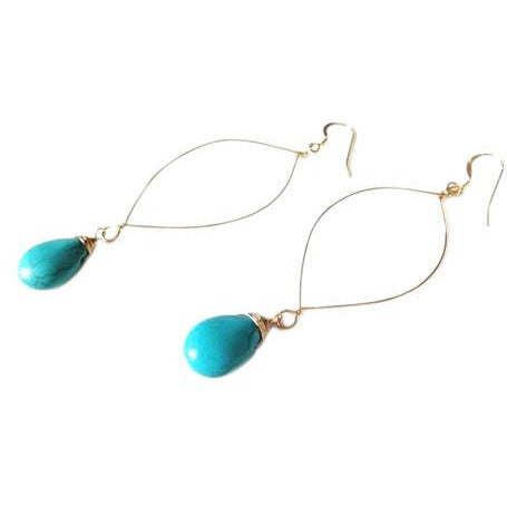 Siena Turquoise Drop Earrings
