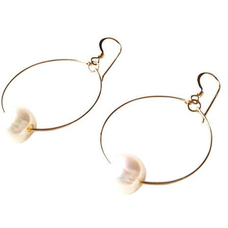 Verona Pearl Circle Earrings