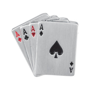 Aces Wild Poker Card Cufflinks