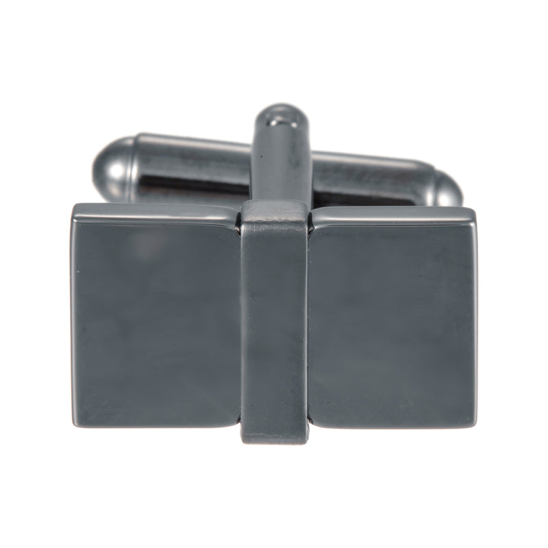 Gunmetal Rectangular Brick Cufflinks