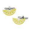 Brilliantly Colored Citrus Slice Cufflinks