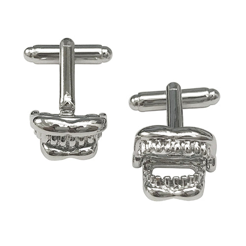 Moving Jaw Skeleton Cufflinks