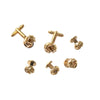 Classic Metal Knot Cufflinks and Tuxedo Studs