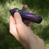 Purple Fluorite Angular Gemstone Pipe - The Shield Stone