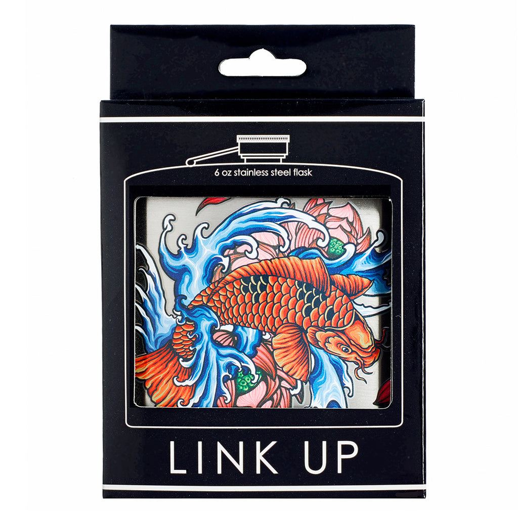 Colorful Koi Printed Stainless Steel Flask