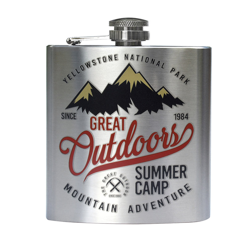 Great Outdoors Printed Stainless Steel Flask