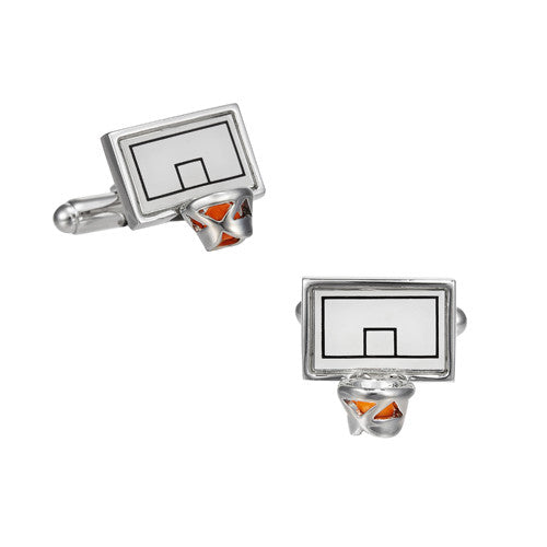 Basketball Backboard and Rim Cufflinks