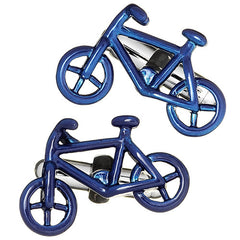 Blue Bicycle Cufflinks by Link Up