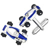 Formula One Racecar Cufflinks in Blue by LINK UP