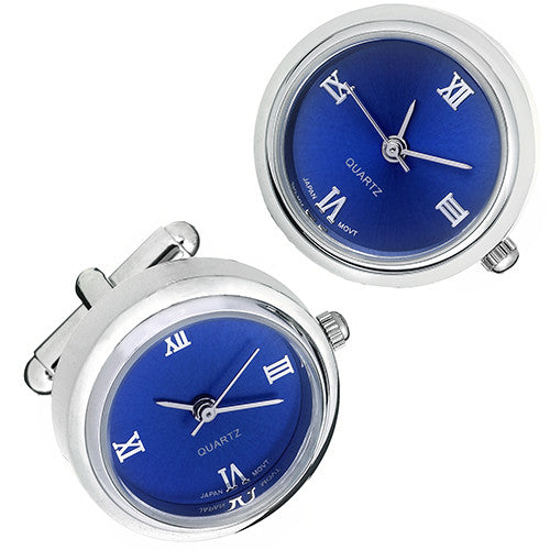 Shiny Silver Watch Cufflinks